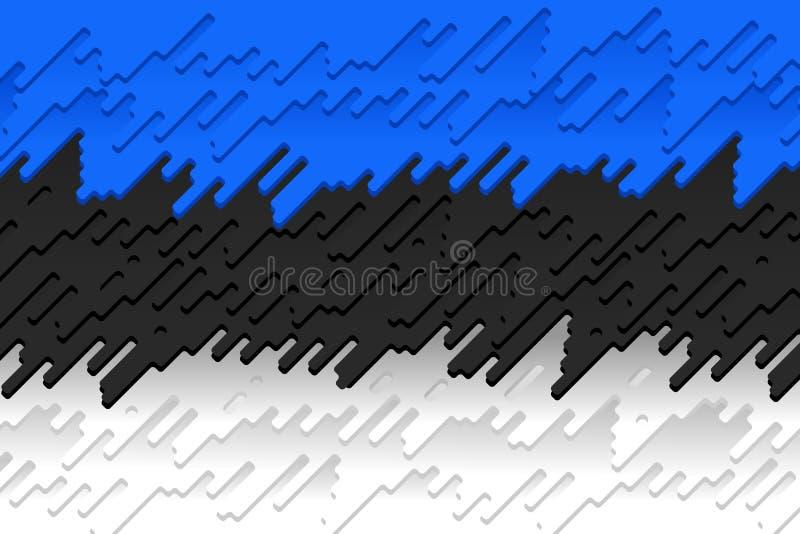 Die Staatsflagge von Estland stock abbildung