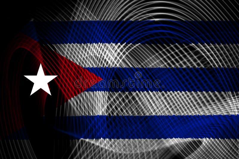 Die Staatsflagge von Kuba stock abbildung