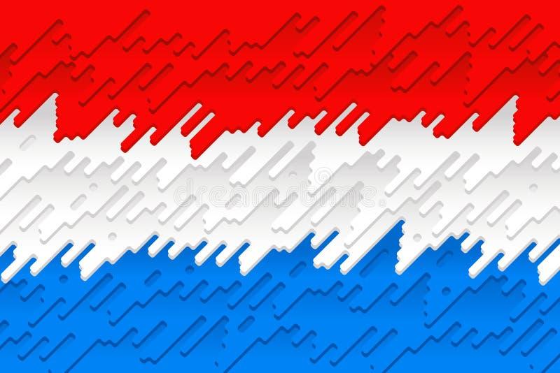 Die Staatsflagge von Luxemburg stock abbildung
