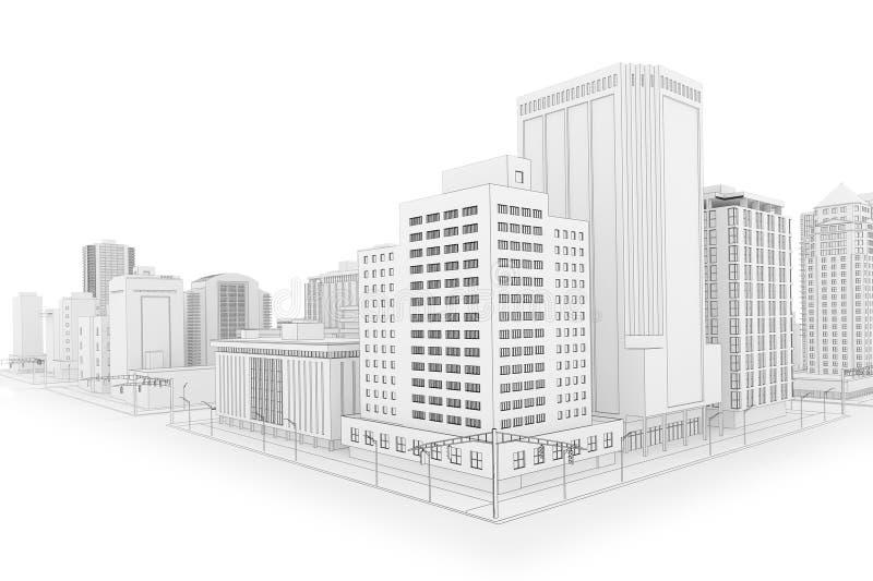 Die Stadt lizenzfreie abbildung