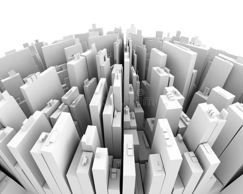 Die Stadt vektor abbildung