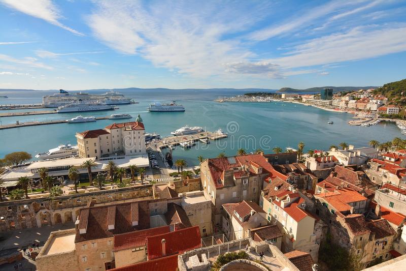 Die Stadt der Spalte, Kroatien lizenzfreie stockfotografie