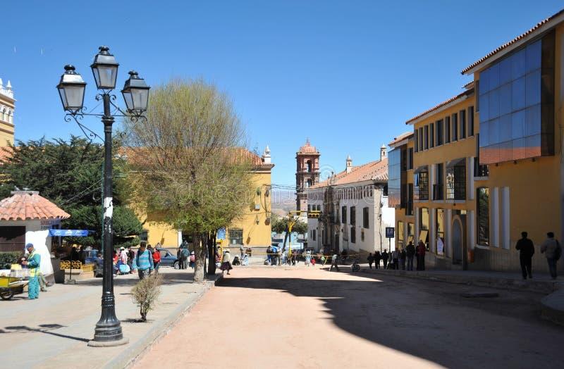 Die Stadt Potosi stockbild