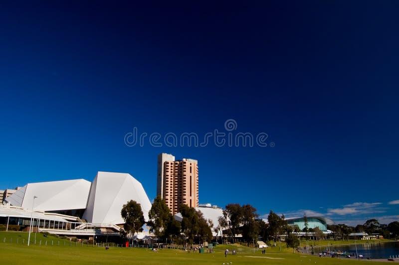 Die Stadt von Adelaide vom älteren Park stockbilder