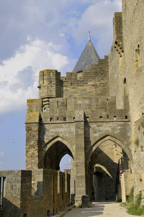 Die Stadt von Carcassonne stockfoto