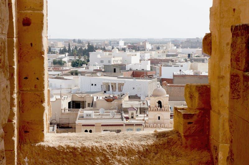 Die Stadt von EL Djem in Tunesien lizenzfreie stockfotos