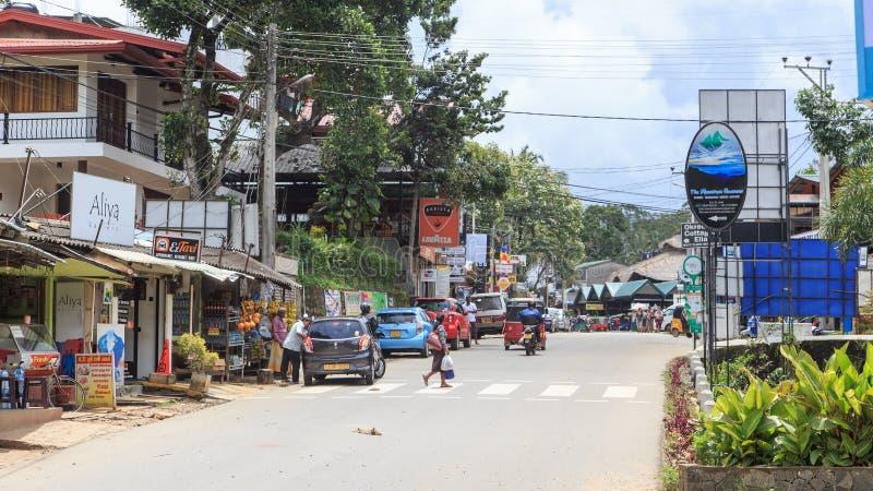 Die Stadt von Ella in den Hochländern von Sri Lanka lizenzfreies stockfoto