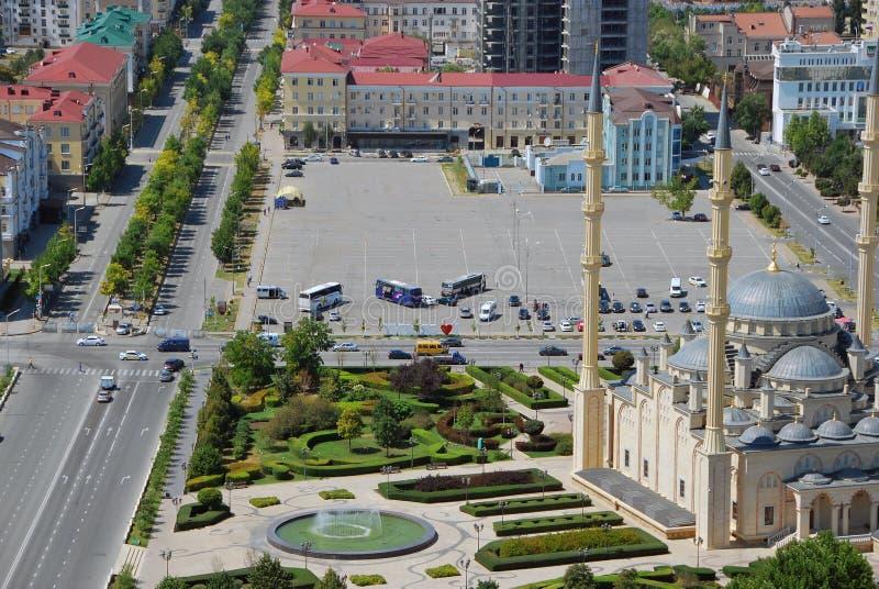 Die Stadt von Grosny die Hauptstadt von Tschetschenien stockbild
