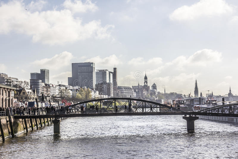 Die Stadt von Hamburg lizenzfreies stockfoto