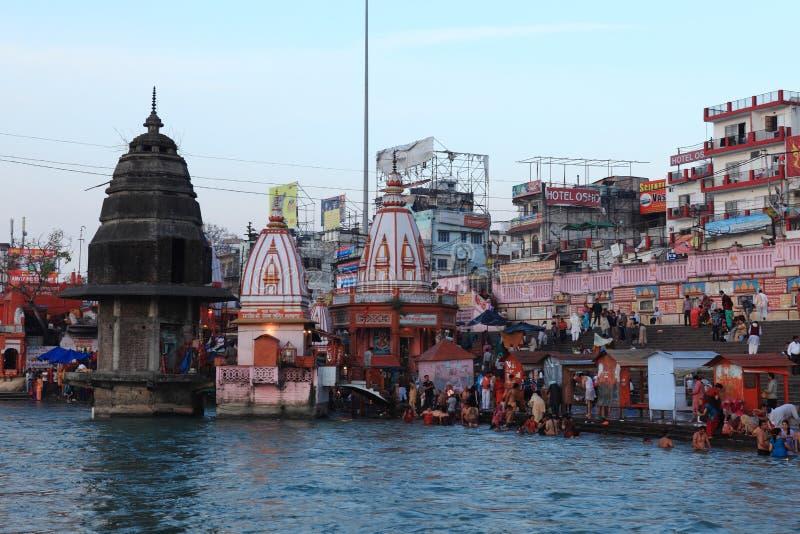 Die Stadt von Haridwar in Indien stockbild