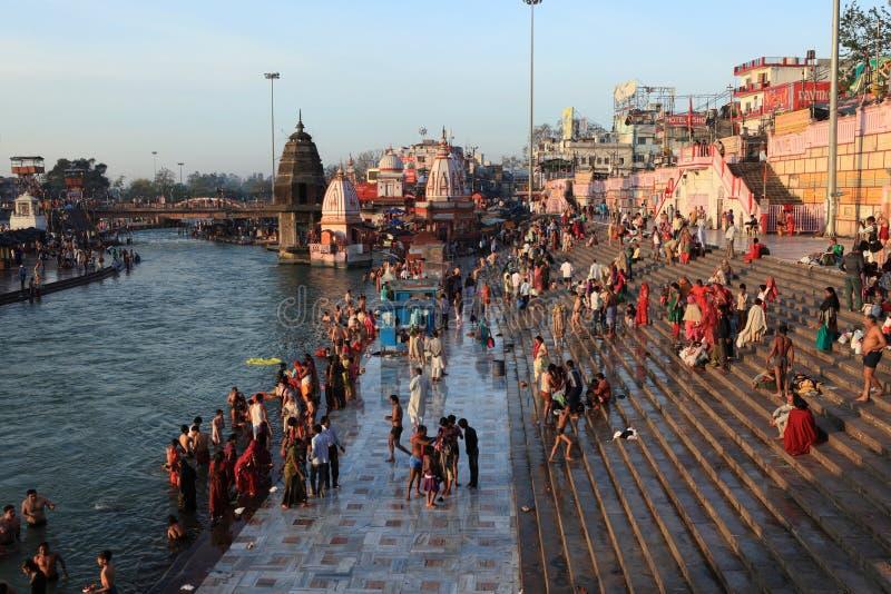 Die Stadt von Haridwar in Indien lizenzfreie stockfotografie