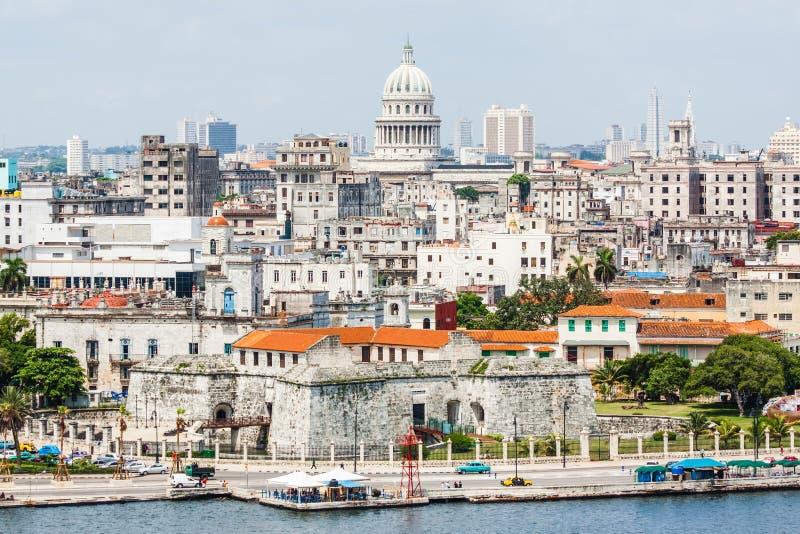 Die Stadt von Havana einschließlich berühmte Gebäude stockfoto