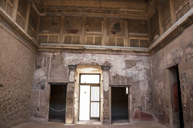 Die Stadt von Herculaneum stockbild