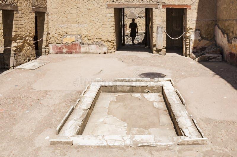 Die Stadt von Herculaneum stockbilder