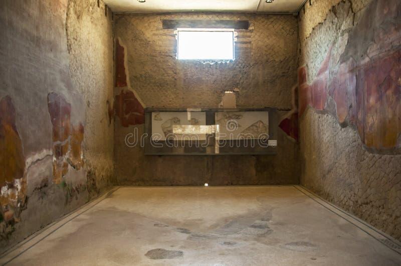 Die Stadt von Herculaneum stockfotos