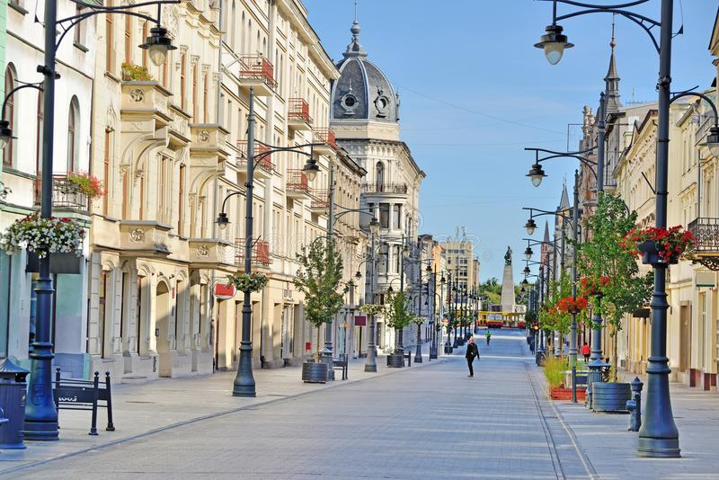 Die Stadt von Lodz, Polen lizenzfreie stockfotografie