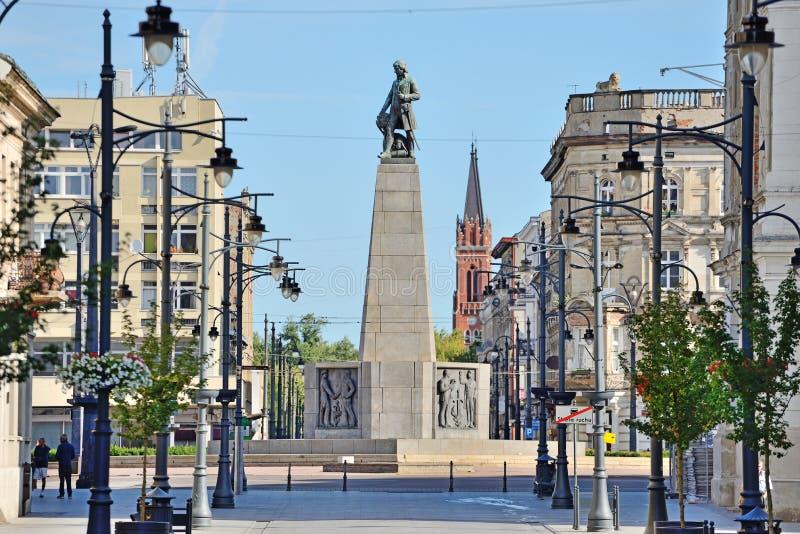 Die Stadt von Lodz, Polen lizenzfreie stockfotos