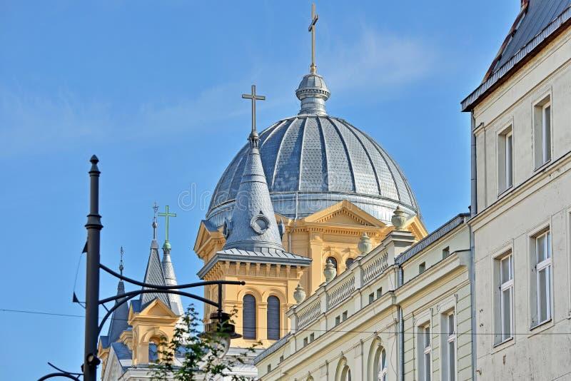 Die Stadt von Lodz, Polen stockfotos