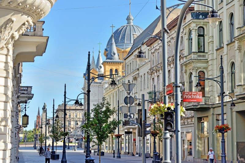 Die Stadt von Lodz, Polen stockbilder