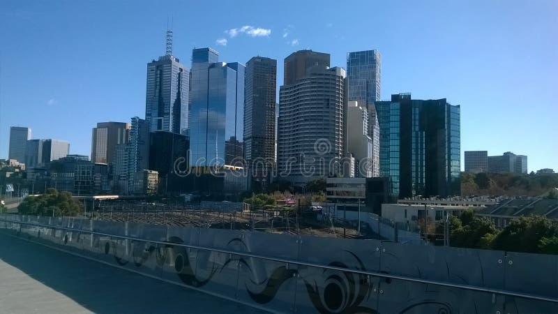 Die Stadt von Melbourne Australien lizenzfreies stockbild