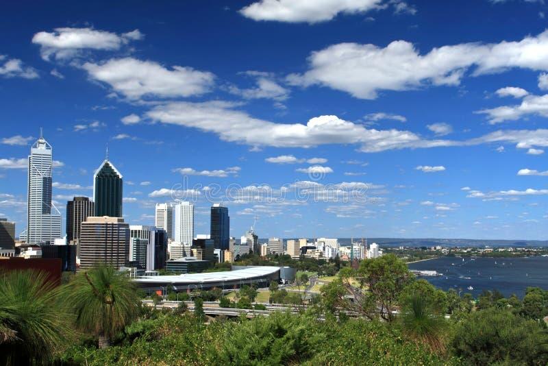 Die Stadt von Perth, Westaustralien lizenzfreie stockbilder