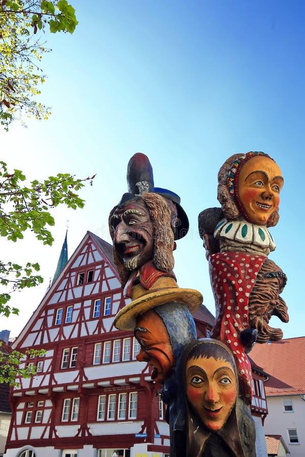 Die Stadt von schlechtem Saulgau lizenzfreie stockbilder