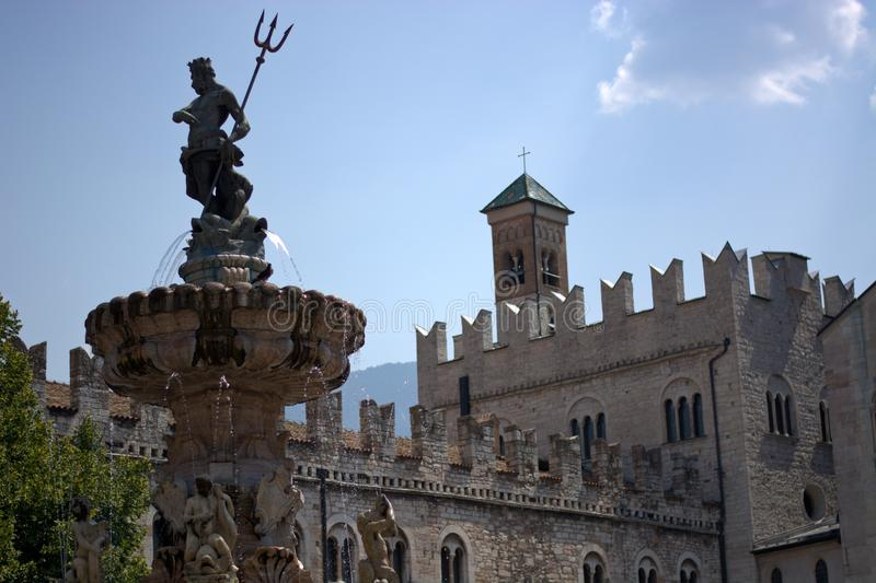 Die Stadt von Trento, Italien lizenzfreies stockbild