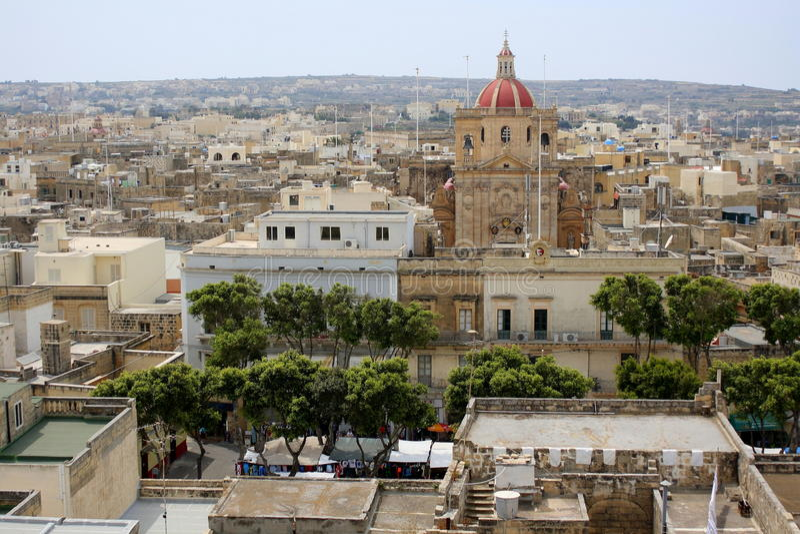 Die Stadt von Victoria auf Gozo lizenzfreies stockbild