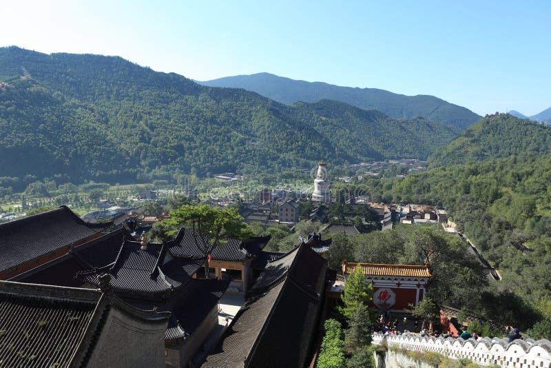 Die Stadt von Wutai Shan lizenzfreie stockfotos