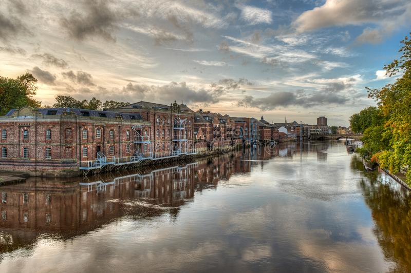 Die Stadt York im Vereinigten Königreich - England stockbild
