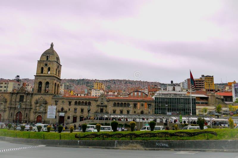 Die Stadtkathedrale in La Paz, Bolivien lizenzfreie stockbilder
