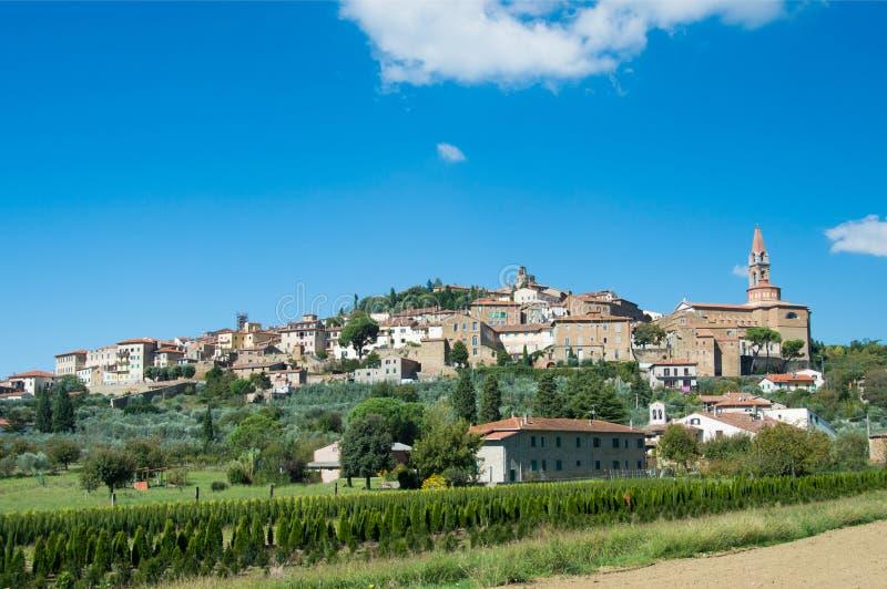 Die Stadtmauern von Castiglion Fiorentino in Toskana lizenzfreie stockbilder