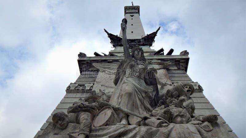 Die Statue 'Krieg 'im Detail stockbilder