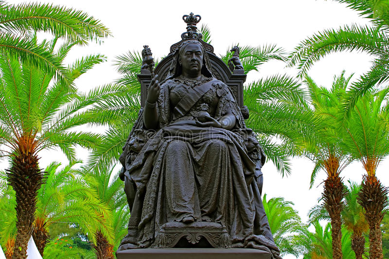 Die Statue der Königin Victoria in Hong Kong stockfotografie