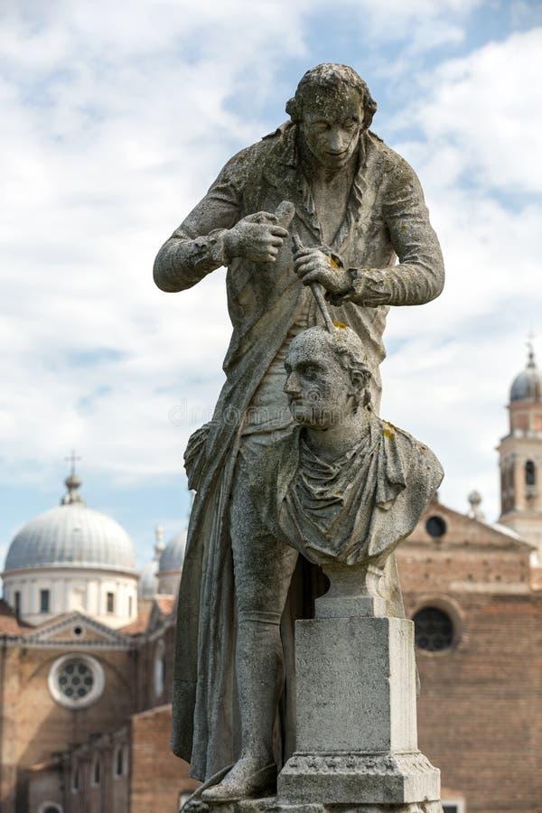 Die Statue von Antonio Canova 1757-1822, wer ein italienischer Bildhauer von der Republik von Venedig war Die Statue ist in Prato lizenzfreie stockbilder