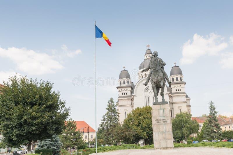 Die Statue von Avram Iancu lizenzfreies stockbild