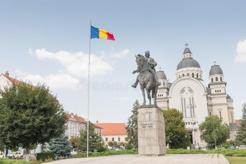Die Statue von Avram Iancu stockfotografie