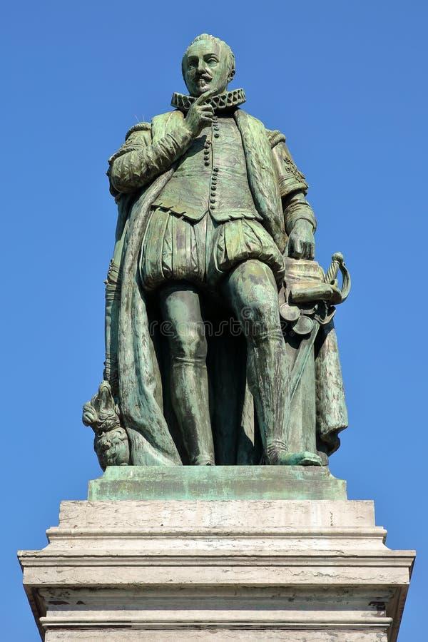 Die Statue von Prinzen William das erste, Prinz von Orange 1533, 1584, entwarf durch Louis Royer und stellte im Jahre 1848 vor lizenzfreie stockbilder
