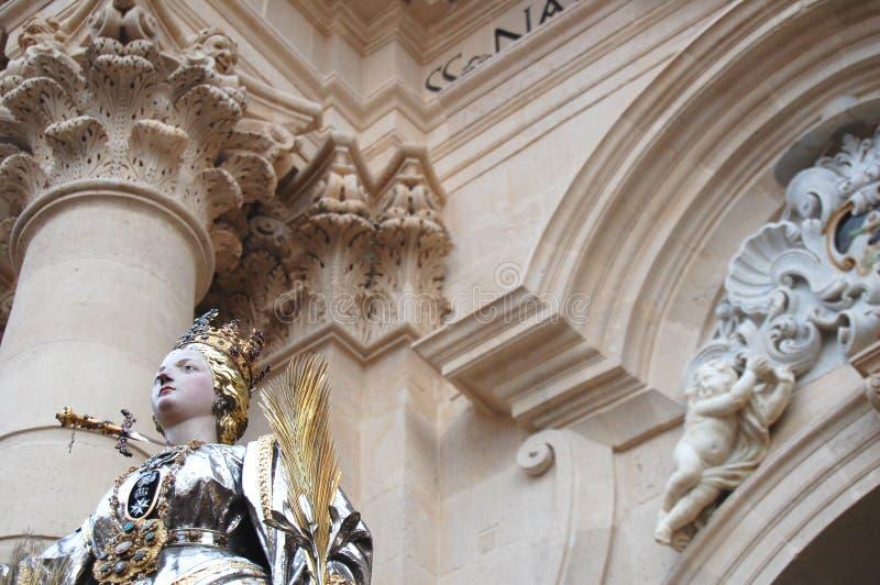 Die Statue von S.Lucia stockfotos