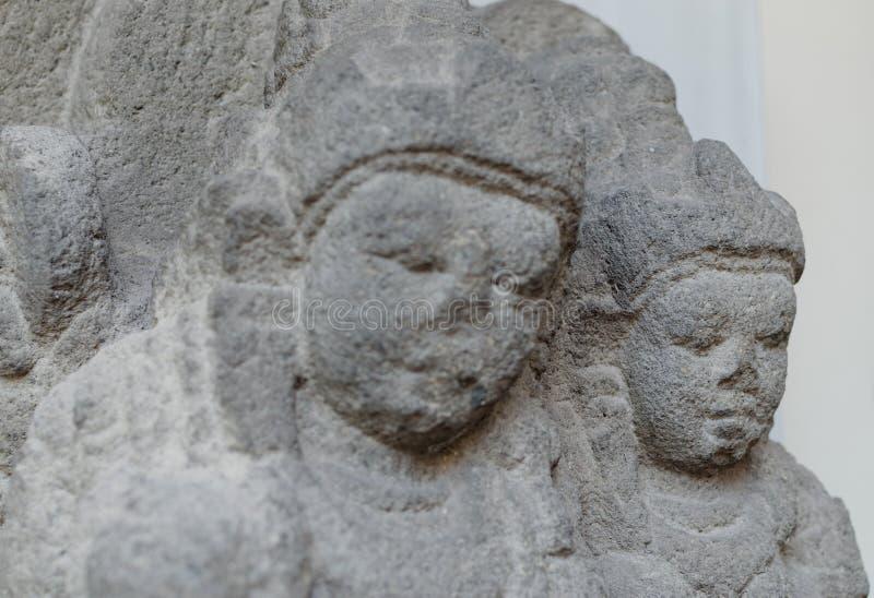 Die Statue von Vishnu und von Lakshmi lizenzfreies stockfoto