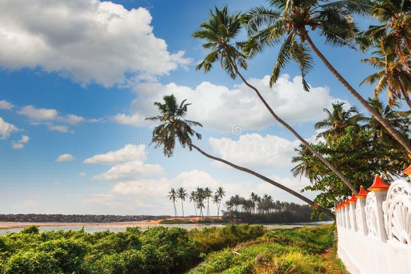 Die Stauwasser von Kerala nahe Varkala stockfoto