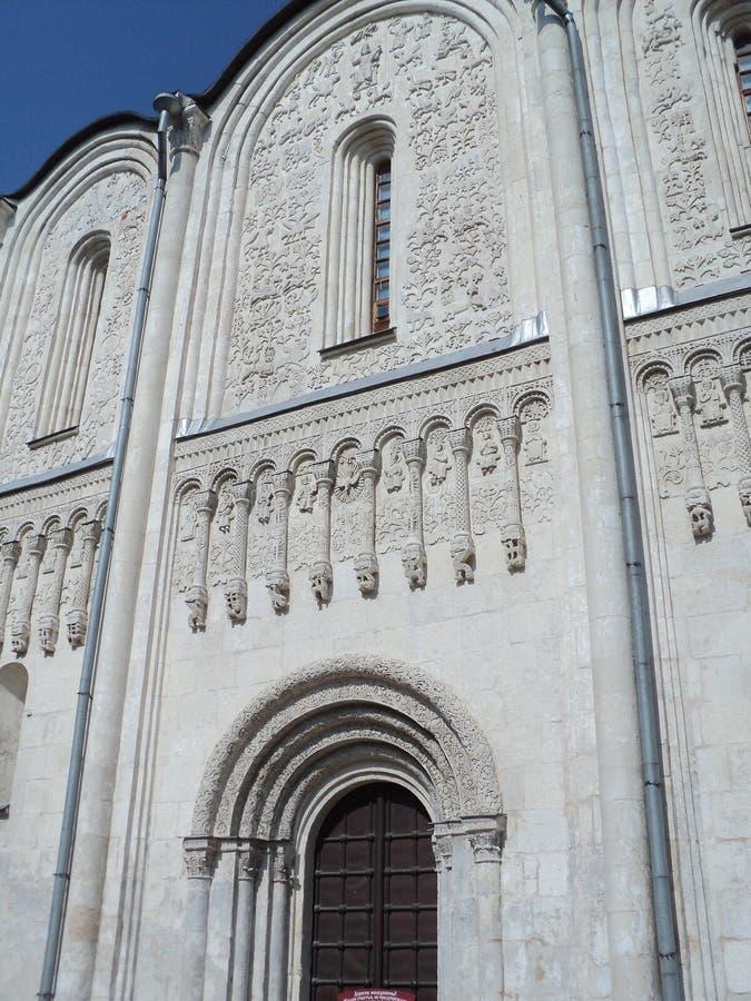 Die Steincarvings Vladimir Dmitrievskiy Cathedral stockbilder
