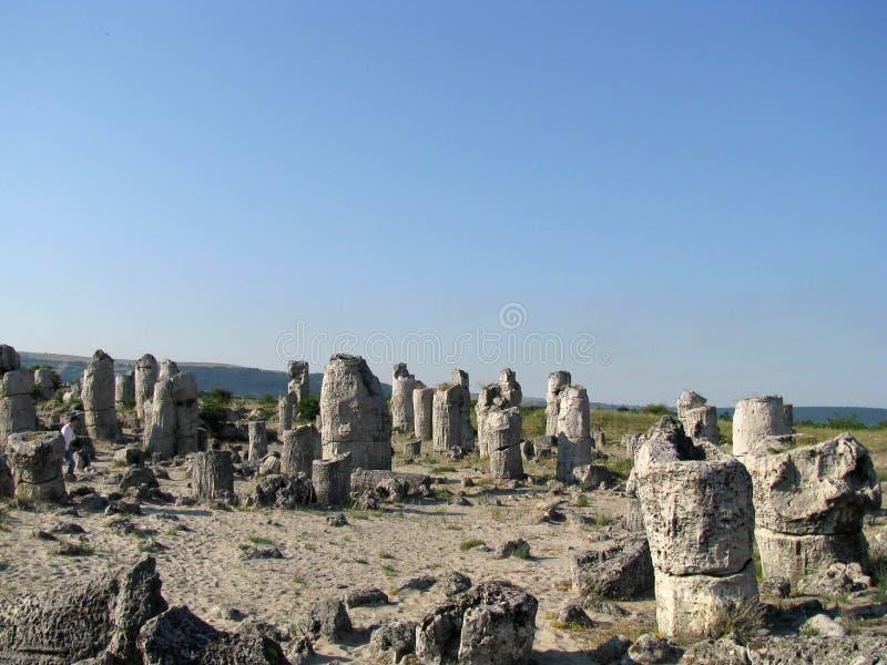 Die Steinwüste in Bulgarien stockfotos
