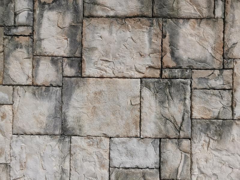 Die Steinwand an Telford-Quadrat Kowloon Hong Kong lizenzfreie stockfotografie