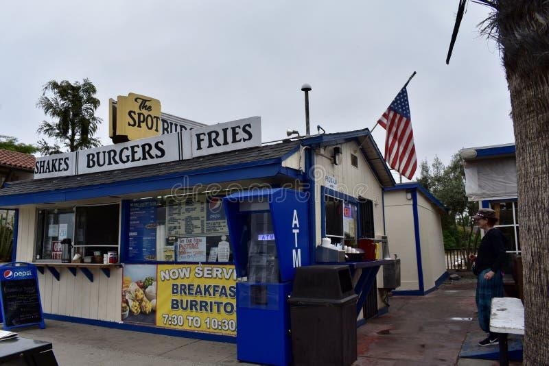Die Stelle auf Linden Avenue Carpinteria California stockfotografie