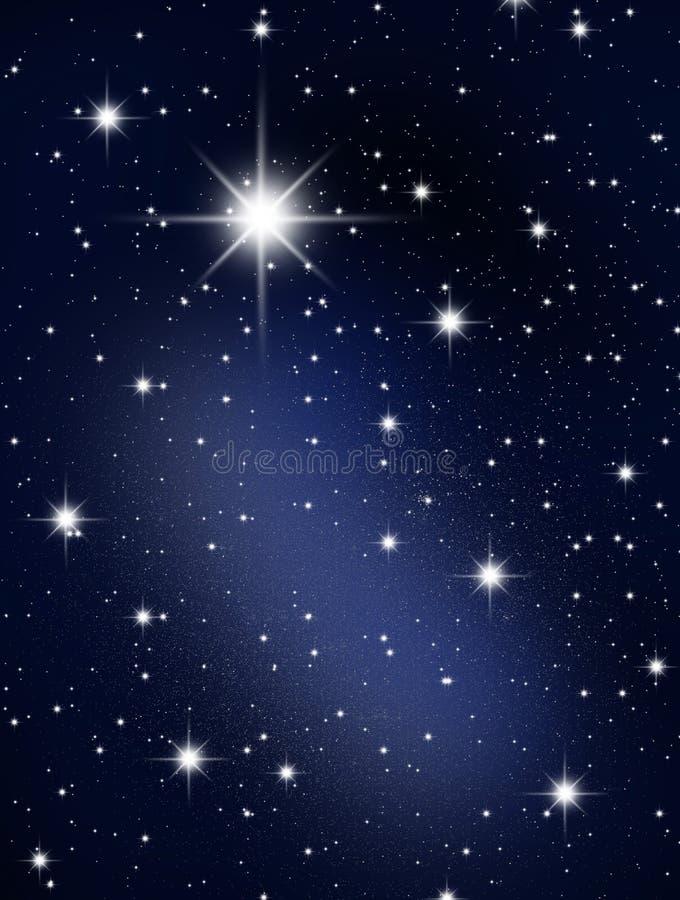 Die Sterne und das galagy. lizenzfreie abbildung
