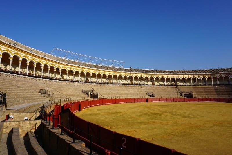 Die Stierkampf-Arena, Teatro de la Maestranza, Sevilla, Spanien lizenzfreie stockfotos