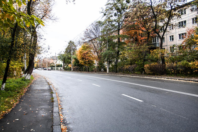 Die Straße der Stadtstraße stockfotografie