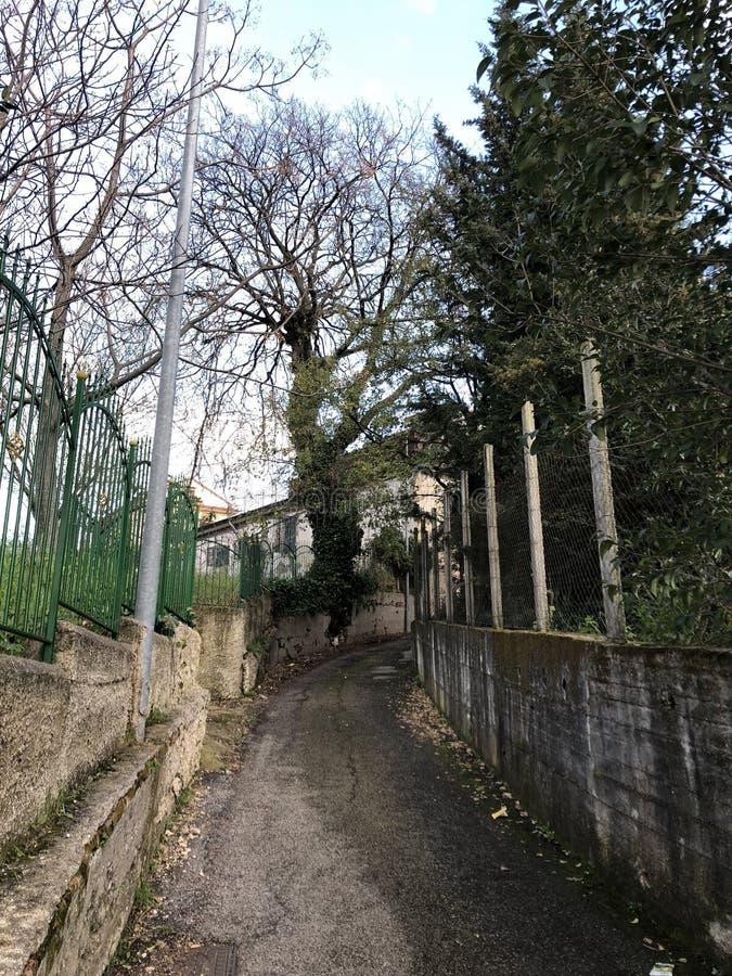 Die Straße reiste weniger, Landstraße, Dorfleben lizenzfreies stockfoto
