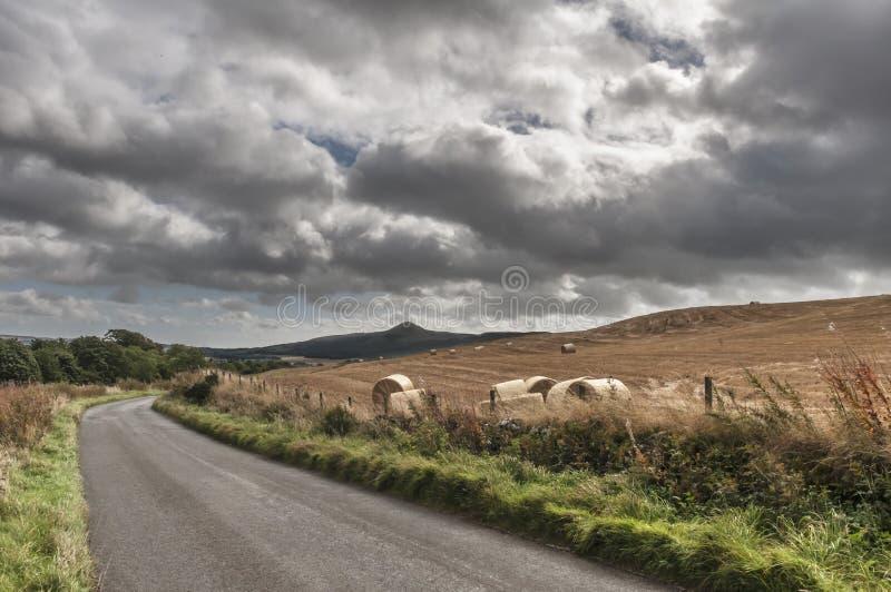 Die Straße zu Glenrothes stockfotografie